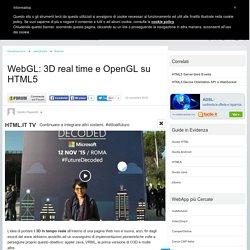 WebGL: 3D real time e OpenGL su HTML5