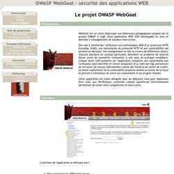 OWASP WebGoat - sécurité des applications WEB