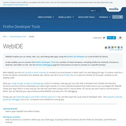 WebIDE - Firefox Developer Tools
