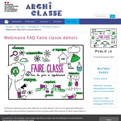 Webinaire FAQ Faire classe dehors - Archiclasse