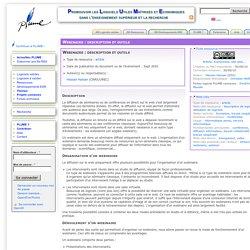 Webinaire : description et outils