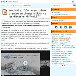 Accompagnement à distance des élèves en difficulté - DANE de Poitiers