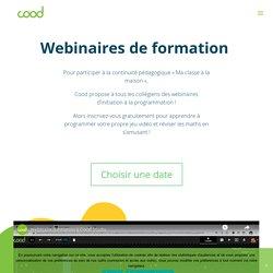 Webinaires - Cood