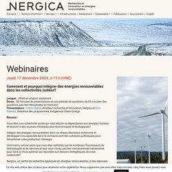 Webinaires - Nergica
