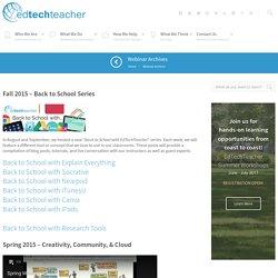 EdTech Teacher Webinars