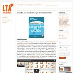 Un webinar dedicato a Google Drive e la didattica
