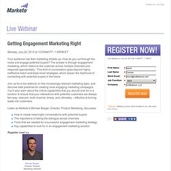 [Webinar] Getting Engagement Marketing Right