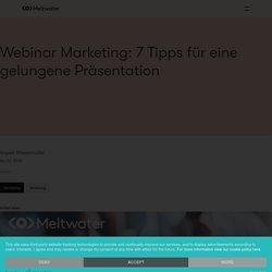 Webinar: 7 Tipps für eine gelungene Präsentation