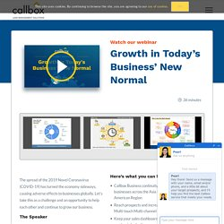[Webinar] Growth in Today's Business' New Normal