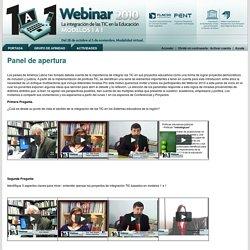 Webinar 2010: La integración de las TIC en la educación. Modelos 1 a 1.