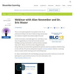 Webinar with Alan November and Dr. Eric Mazur