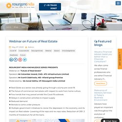 Webinar on Future of Real Estate