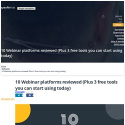 10 Webinar platforms reviewed (Plus 3 free tools you can start using today)