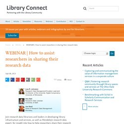 How to assist researchers in sharing their research data