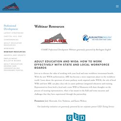Webinar Resources — COABE