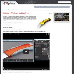 Webinar: T-Splines and KeyShot