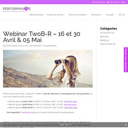 Webinar TwoB-R - 16 et 30 Avril & 05 Mai - Performanse