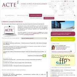 Webinars gratuits en commerce international > ACTE International
