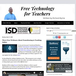 Three Free Webinars About Transitioning to Teaching Online