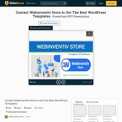 Contact Webinventiv Store to Get The Best WordPress Templates PowerPoint Presentation - ID:10391074