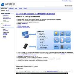 webiopi - Internet of Things framework