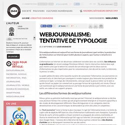 Webjournalisme: tentative de typologie » Article » OWNI, Digital Journalism