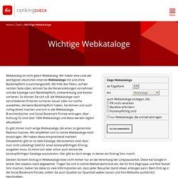 Wichtige Webkataloge