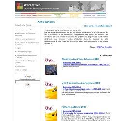 WebLettres - Lire au lycée pro