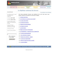 WebLettres - Brevet des collèges