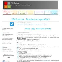 WebLettres : Dossiers et synthèses