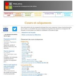 WebLettres - le portail de l'enseignement des lettres