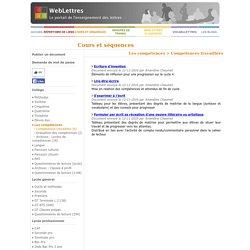 WebLettres - Ressources collège et lycée en français