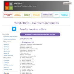 Exercices interactifs - WebLettres