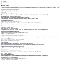 Academic Writing Practice - Links