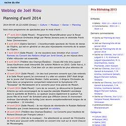Weblog de Joël Riou