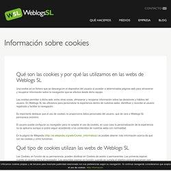Información sobre cookies - Weblogs SL