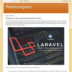 Hire Laravel Developer for Your Website from Weblounge
