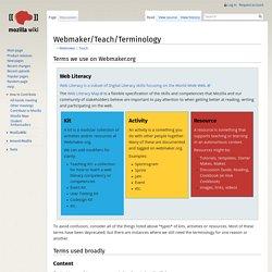 Webmaker/Teach/Terminology