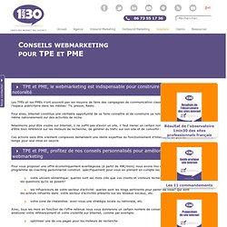 Conseils webmarketing pour TPE et PME