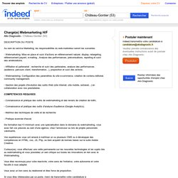 Emploi Chargé(e) Webmarketing H/F - Allo Diagnostic - Château-Gontier (53)