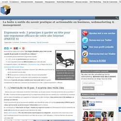 Ergonomie web: 3 principes à garder en tête pour une ergonomie efficace de votre site Internet (PARTIE 6)