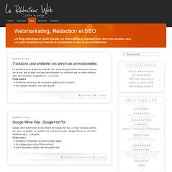 Webmarketing, Redaction et SEO