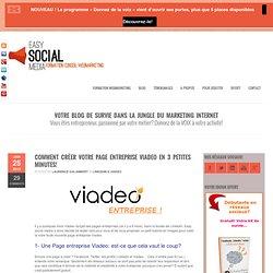 Créer page entreprise Viadeo