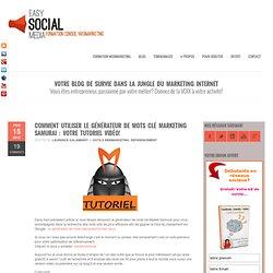 Formation webmarketing et réseaux sociauxComment utiliser le générateur de mots clé Marketing Samurai : votre tutoriel vidéo!