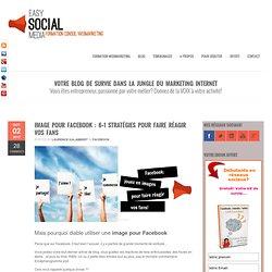 Formation webmarketing et réseaux sociauxImage pour Facebook : 6+1 stratégies pour faire réagir vos fans