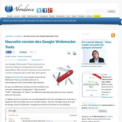 Nouvelle version des Google Webmaster Tools
