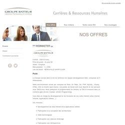 WEBMASTER - Nos offres d'emploi - Groupe Batteur Carrières