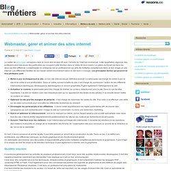 Webmaster, gérer et animer des sites internet