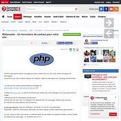 Webmaster - Un formulaire de contact pour votre site