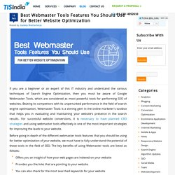 Best Webmaster Tools Features You Should Use for Better Website Optimization